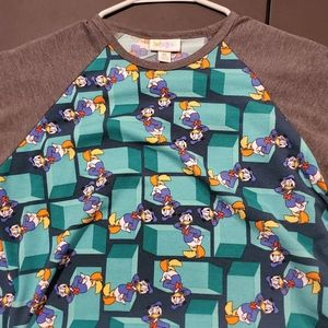 LulaRoe Donald Duck Randy XS